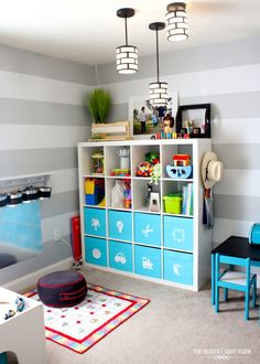 IKEA storage in the Playroom.
