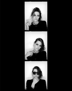 Kristen Stewart photomaton pour Chanel et par Karl Lagerfeld