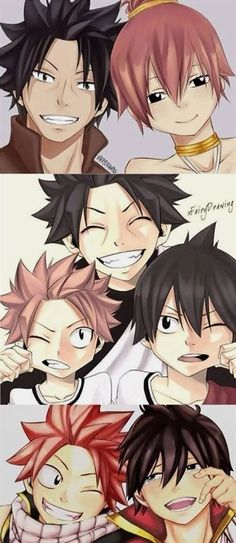 Natsu ,Zeref y su familia (Fairy Tail) Fairy Tail Love, Fairy Tail Nalu, Fairy Tail Amour, Image Fairy Tail, Sad Fairy, Fairy Tale Anime, Fairy Tail Family, Fairy Tail Couples, Fairy Tail Ships