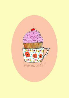 #tea #cupcakes #illustrations