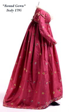 Round Gown Italy 1775. The print is great!