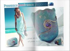 Provence mug, Vintage art.