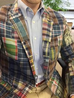 Polo Ralph Lauren patchwork India madras jacket.