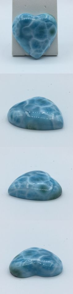 Larimar Pectolite 181090: Larimar Heart Cabochon 22.4G Aa Quality With Superb Stunning Blue -> BUY IT NOW ONLY: $78 on eBay!