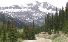 Mount Democrat (elev. 14,148 feet) stands proudly in the backdrop.
