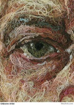 Incredible art using thread.....artist unknown