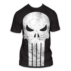 "MARVEL COMICS* ""The Punisher"" Oversized Logo Big Print Subway T Shirt, Black"