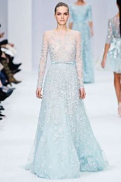 Fabulous ice blue Elie Saab Couture gown from SS2012 - who says a #wedding #dress has to be white?