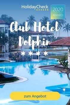 Erlebe deinen Sri-Lanka-Traum in diesem Bestseller Hotel, Club Hotel Dolphin. In diesem Gay-Friendly 4-Sterne-Hotel finden Wellness- & Hochzeitsreisende, Badeurlauber und Familien alles was das Herz begehrt. Das Sporthotel liegt direkt am Strand, bietet besten Service und ein umfangreiches Freizeitangebot. Squash, Tauchen und Surfen. Ausgezeichnet mit dem HolidayCheck-Award und 92%iger Weiterempfehlung. Hier steht deinem perfekten Urlaub nichts mehr im Wege.  #srilanka #urlaub #holidaycheck Hotels, Strand, Sri Lanka, Dolphins, Best Sellers, Movies, Movie Posters, Honeymoon Cruise, Honeymoons