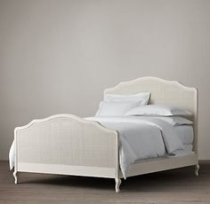 So pretty and feminine!  Lorraine Caned Bed Distressed White Oak | Restoration Hardware