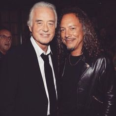 Such an awesome pic of JimmyPage & Kirk Hammett