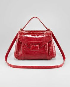 Crocodile Flap-Front Satchel Bag by Nancy Gonzalez at Bergdorf Goodman.