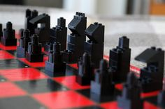 The Contemplative Creative: Simple Lego Chess Set Diy Chess Set, Modern Chess Set, Chess Sets, Pvc Pipe Projects, Lego Projects, Welding Projects, Chess Pieces, Lego Pieces, Lego Chess