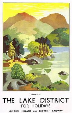 Lake District Ullswater A2 24 x 17 Reproduction Vintage Travel Poster