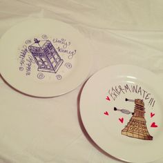 Lovely Dr. who plates over on My So Called Chaos' lifestyle blog, I LOVE Dr. Who so this really made me happy!