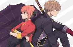 Sougo Okita x Kagura [OkiKagu], Gintama Anime One, Anime Guys, Manga Anime, Anime Love Couple, Cute Anime Couples, Gintama Wallpaper, Kise Ryouta, Hd Anime Wallpapers, Okikagu