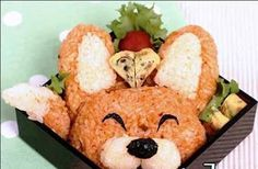 Japanese Bento Lunch Box I find these really amazing! How much fun and creativity you can get with food. There are so many things you can . Cute Snacks, Cute Food, Good Food, Yummy Food, Japanese Food Art, Japanese Rice, Chinese Food, Bento Recipes, Bento Ideas