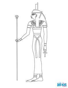 ISIS para colorear diosa egipcia