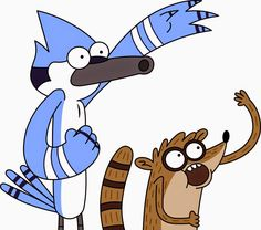 Regular show. Mordacai & Rigby oooohhhh :-D Cartoon Kunst, Comic Kunst, Cartoon Drawings, Cartoon Art, Cartoon Network Characters, Cartoon Network Shows, Cartoon Shows, Cartoon Network Adventure Time, Adventure Time Anime