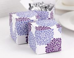 Favor boxes, 2x2x2. Also in Teal.