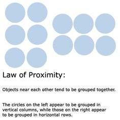 Learn the Gestalt Laws of Perceptual Organization: Law of Proximity