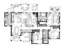 Plano de hermosa cabaña de 3 dormitorios y 1 piso-2