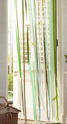 ribbon curtain. totally making this! :) #DIY Ribbon Curtain | Shelterness