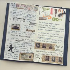"""Week 4 of July is the music week #travelersnotebook #washitape #travelersnote #travelersfactory #picture #midori #トラベラーズノート #トラベラーズファクトリー #手帳…"""