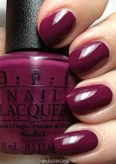Anti-Bleak is a gorgeous plum crème, however it is not the typical OPI crème formula.  Instead it is kind of thin and patchy.  It was fine after the second coat!
