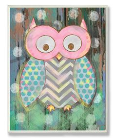 Look what I found on #zulily! Distressed Woodland Owl Wrapped Canvas #zulilyfinds