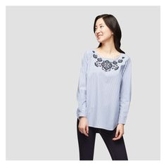 Embroidered Tunic - Same material as in back of woven cardigan. Look polished together.