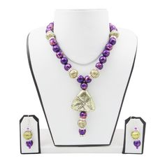 Antique Beads Necklace #handmade #jewellery #necklace fashionvalley.in