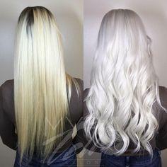 Ugh How beautiful is this white hair. Elsa walking around in Texas! White Blonde Hair, Ice Blonde, Platinum Hair Color, Lace Hair, Bleached Hair, Dream Hair, Silver Hair, Gorgeous Hair, Hair Inspiration
