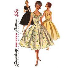 1950s Dress Pattern  Vintage Simplicity 1119  Bust by ErikawithaK, $24.00