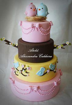 bolo de passarinhos