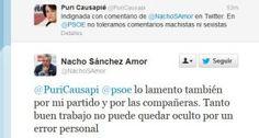 Diputadas del PSOE critican un mensaje machista de otro socialista Sánchez Amor ha levantado las críticas de sus compañeras de partido por un tuit
