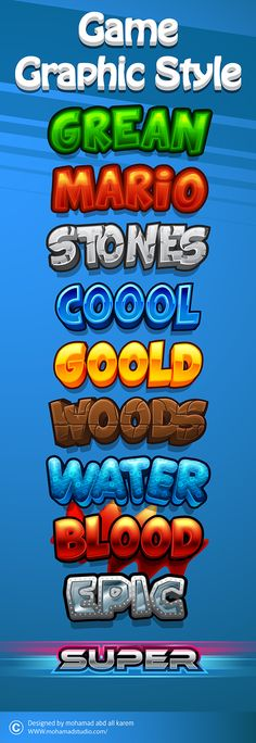 2d game graphic style  by mohamad abd alkarem, via Behance
