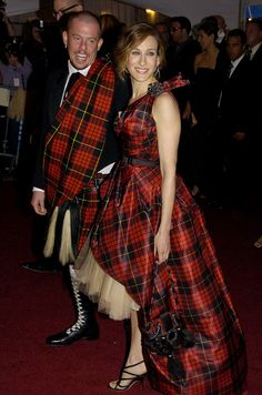 Alexander McQueen and Sarah Jessica Parker - At the Anglomania Met Gala, May 2006