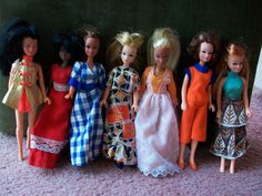 Pippa dolls - tiny fashion doll that were pocket money priced so i had loads of outfits