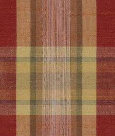 Robert Allen Zen Plaid Redwood Fabric - $36.3   onlinefabricstore.net