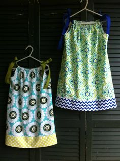 Pillowcase dresses for Savannah & Juliette