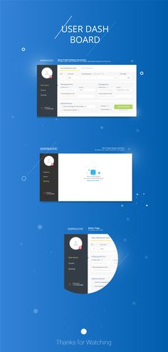 This was a dashboard design for a Client user section