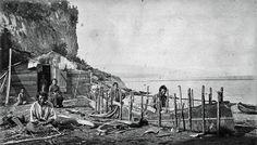 Montagnais make a bark canoe, Murray Bay, Pointe-au-Pic (Quebec) v. The Naskapi and Montagnais in Labrador are represented by the Innu Nation Native American Genocide, Native American Music, Native American Photos, Native American Indians, Native Americans, Canadian History, American History, Lac Saint Jean, Primitive Survival