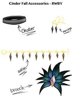 Cinder RWBY - accessories