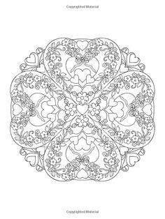 Heart Mandalas Coloring Book / Artwork by Marty Noble