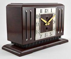 art deco óra Art Deco Furniture, Art Nouveau, Shabby Chic, Clock, Retro, Home Decor, Art Deco, Chic, Watch