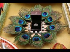 Want a low budget ring platter decor ? Take a tray, put your rings on it and add some pearls attached with Desi Wedding Decor, Indian Wedding Decorations, Wedding Crafts, Indian Wedding Gifts, Wedding Colors, Wedding Flowers, Engagement Ring Platter, Thali Decoration Ideas, Fruit Decorations