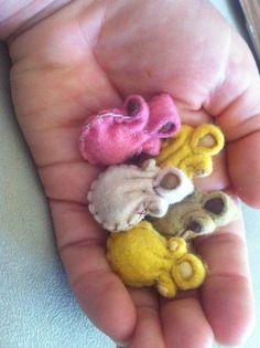 Tiny Baby Waldorf Dolls, via Etsy.