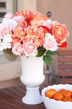 DIY silk floral arrangement from Infarrantly Creative