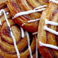 Who doesn't love danish pasteries? Here is a few ideas of how to make a swirl using the delicious ingredient of cinnamon. Apple goes so well with it.